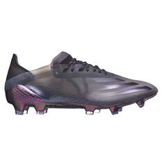 adidas X Ghosted .1 Football Boots Black US Mens 7 / Womens 8, Black, rebel_hi-res