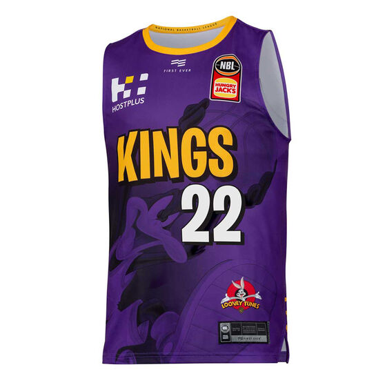 Sydney Kings 2019/20 Mens Looney Tunes Casper Ware Jr. Jersey, Purple, rebel_hi-res