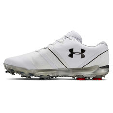 Under Armour Spieth 3 Mens Golf Shoes White / Grey US 7.5, White / Grey, rebel_hi-res
