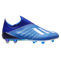 adidas X 19+ Football Boots Blue / White US Mens 7 / Womens 8, Blue / White, rebel_hi-res