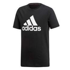 adidas Boys Badge Of Sport Tee Black 6, Black, rebel_hi-res