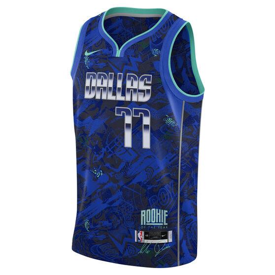 Nike Dallas Mavericks Luka Doncic 2021 Mens ROY Select Jersey, Blue, rebel_hi-res