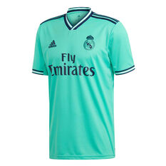 Real Madrid CF 2019/20 Mens 3rd Jersey Green S, Green, rebel_hi-res
