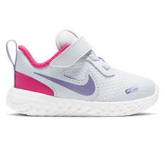 Nike Revolution 5 Toddlers Shoes Grey/Purple US 4, , rebel_hi-res