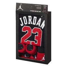 Nike Air Jordan 3 Piece Infant Set Black / Red 0 - 6, , rebel_hi-res