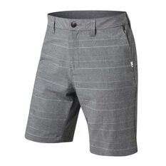 Quiksilver Mens Union Amphibian Stripe Shorts Grey 30, Grey, rebel_hi-res