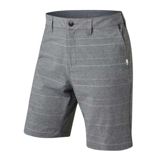 Quiksilver Mens Union Amphibian Stripe Shorts Grey 30, Grey, rebel_hi-res