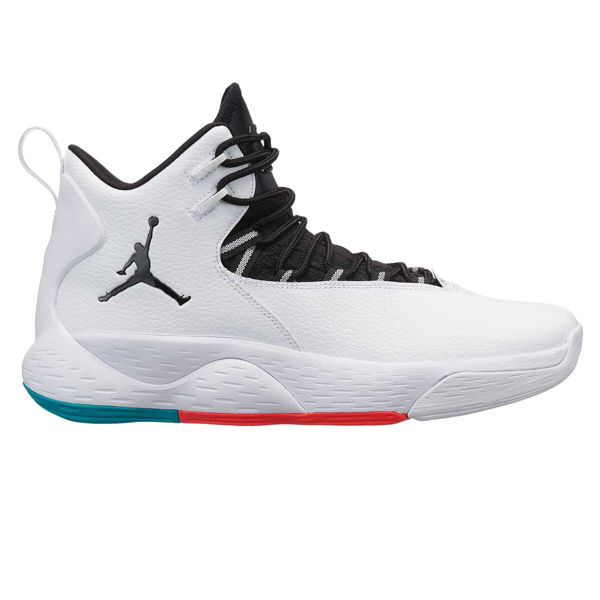 outlet store b5cc3 ca203 promo code nike jordan super.fly mvp mens basketball shoes white black us 7  white
