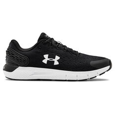 Under Armour Charged Rogue 2 2E Mens Running Shoes Black/White US 7, Black/White, rebel_hi-res