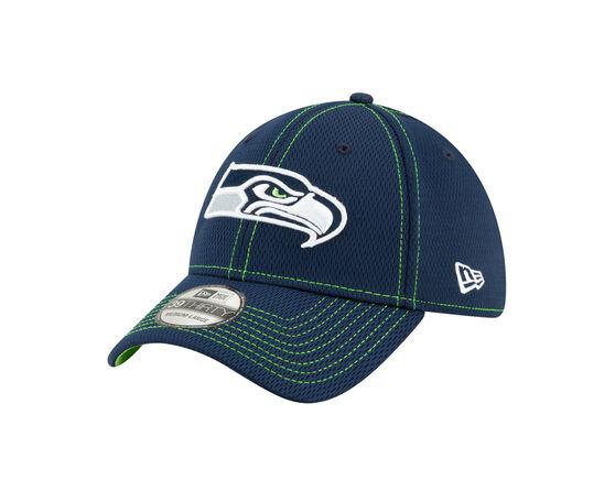 Seattle Seahawks Sideline Road 39THIRTY Stretch Fit Cap, Navy, rebel_hi-res