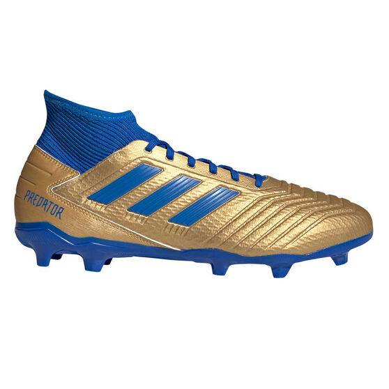adidas Predator 19.3 Football Boots, Gold / Blue, rebel_hi-res