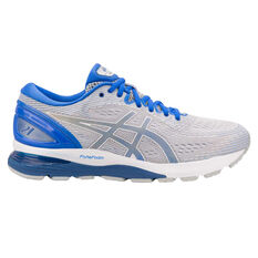 Asics GEL Nimbus 21 Lite Show Mens Running Shoes Grey / Blue US 7, Grey / Blue, rebel_hi-res