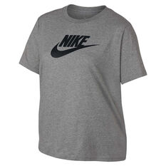 Nike Womens Sportswear Essential Futura Tee Plus Grey / Black XL, Grey / Black, rebel_hi-res