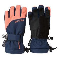 Rojo Girls Maximise Gloves Navy / Orange 4, Navy / Orange, rebel_hi-res