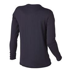 Quiksilver Mens Solid Streak Long Sleeve Rash Vest Black S, Black, rebel_hi-res
