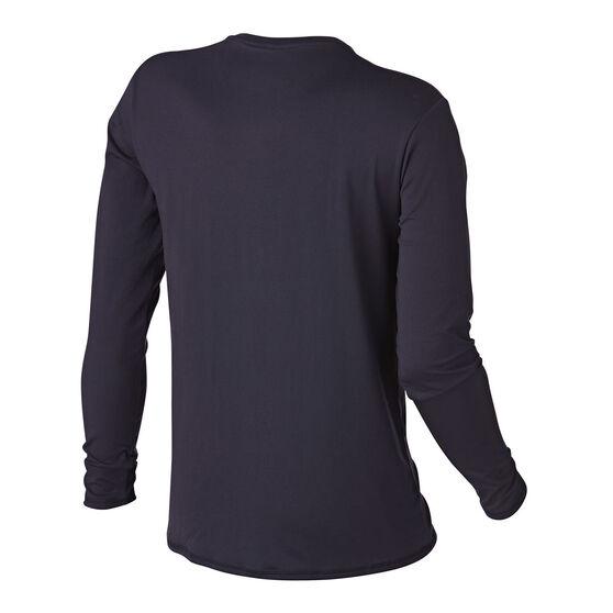 Quiksilver Mens Solid Streak Long Sleeve Rash Vest, Black, rebel_hi-res
