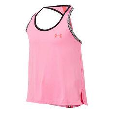 Under Armour Girls Knockout Tank Pink XS, Pink, rebel_hi-res