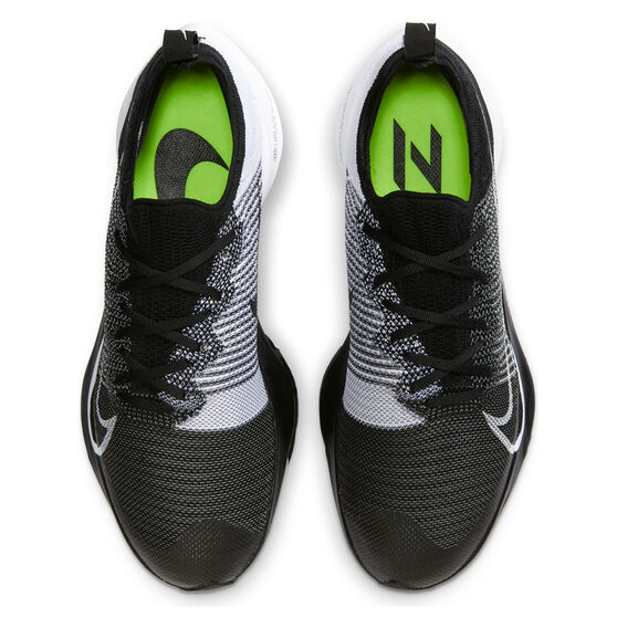 Nike Air Zoom Tempo Next% Mens Running Shoes, Black/White, rebel_hi-res
