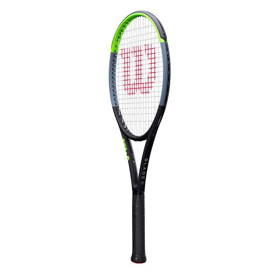 Wilson Blade 100L v7 Tennis Racquet, Black / Green, rebel_hi-res