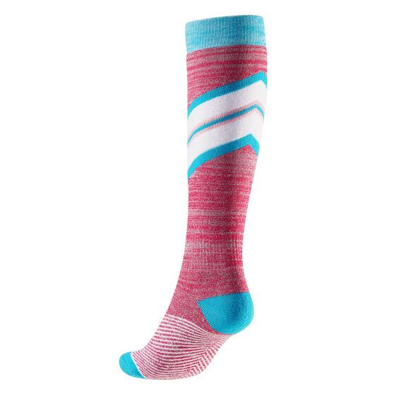 Tahwalhi Womens Stripe Ski Socks, , rebel_hi-res