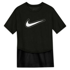 Nike Girls Dri-FIT Trophy Tee Black XS, Black, rebel_hi-res