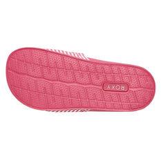 Roxy Slippy Girls Slides, Pink / White, rebel_hi-res