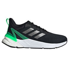 adidas Response Super 2.0 Kids Running Shoes Black/Green US 4, Black/Green, rebel_hi-res