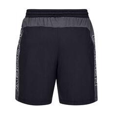 Under Armour Mens MK 1 7in Shorts, Black / White, rebel_hi-res