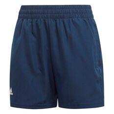 adidas Boys Club Shorts Navy / White 6, Navy / White, rebel_hi-res