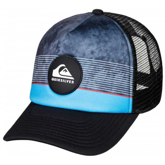 Quiksilver Stripe Pipe Cap Blue OSFA, , rebel_hi-res