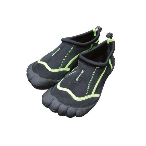 Seven Mile Kids Aqua Reef Shoe Black / Green UK 3, Black / Green, rebel_hi-res