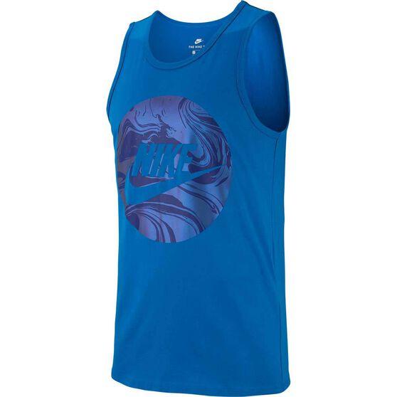 Nike Men's Virus Tank, Blue, rebel_hi-res