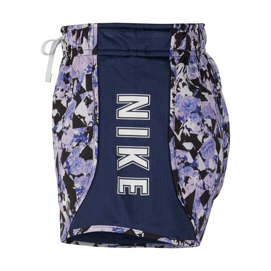 Nike Girls Dri-FIT Tempo Printed Running Shorts, Blue, rebel_hi-res