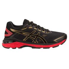 Asics GT 2000 7 Womens Running Shoes Black / Gold US 6, Black / Gold, rebel_hi-res
