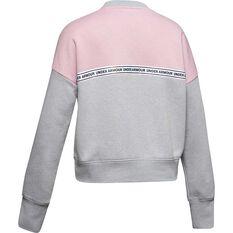 Under Armour Girls Sportstyle Fleece Sweatshirt Grey / Black XS, Grey / Black, rebel_hi-res