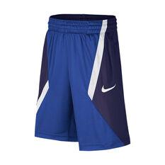 Nike Boys Dry Avalanche Basketball Shorts Royal / Navy XS, , rebel_hi-res