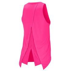 Nike Womens Dri FIT Graphic Running Tank Pink S, Pink, rebel_hi-res