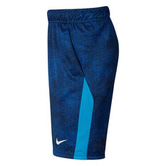 Nike Boys Dri-FIT Printed Training Shorts, Blue / White, rebel_hi-res
