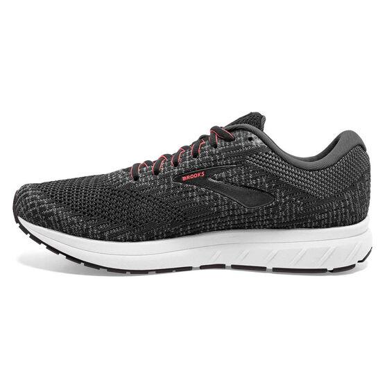 Brooks Revel 3 Womens Running Shoes, Grey / Black, rebel_hi-res