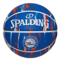 Spalding NBA Team Philadelphia 76ers Marble Basketball, , rebel_hi-res