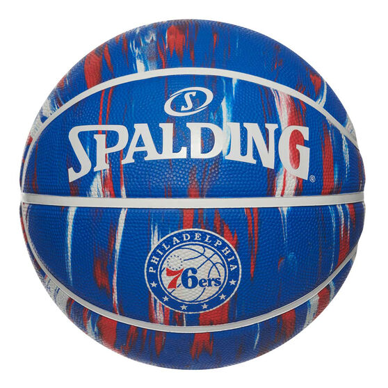Spalding NBA Team Philadelphia 76ers Marble Basketball, , rebel_hi-res