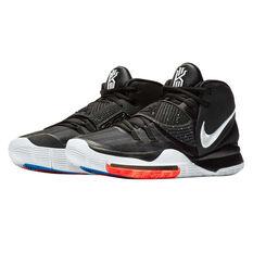 Nike Kyrie VI Mens Basketball Shoes Black / White US 7, Black / White, rebel_hi-res