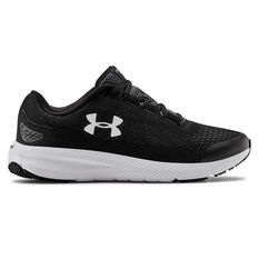 Under Armour Persuit 2 Kids Running Shoes Black/White US 4, Black/White, rebel_hi-res