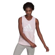 adidas Womens Essentials Big Logo Tank Pink XS, Pink, rebel_hi-res