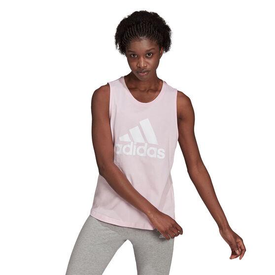 adidas Womens Essentials Big Logo Tank, Pink, rebel_hi-res