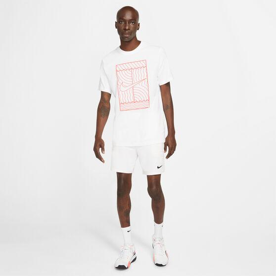 NikeCourt Mens Tennis Tee, White, rebel_hi-res
