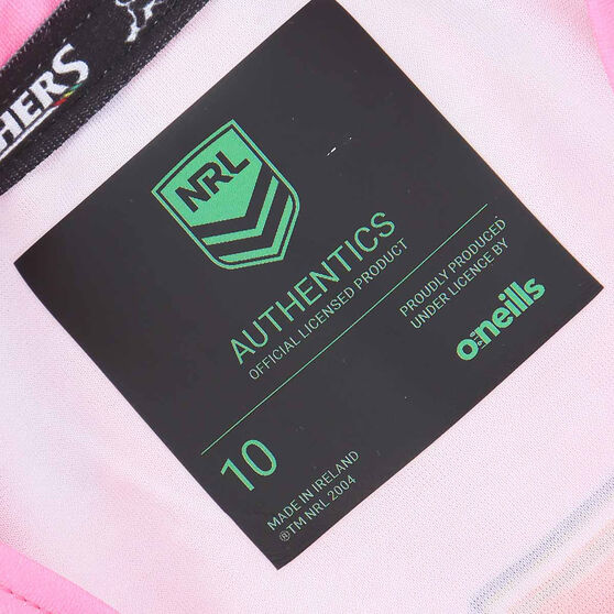 Penrith Panthers 2021 Womens Away Jersey, Pink, rebel_hi-res
