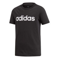 adidas Boys Essentials Linear Tee Black / White 8, Black / White, rebel_hi-res