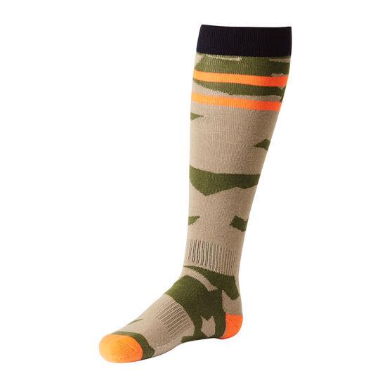 Tahwalhi Mens Camo Ski Socks, , rebel_hi-res