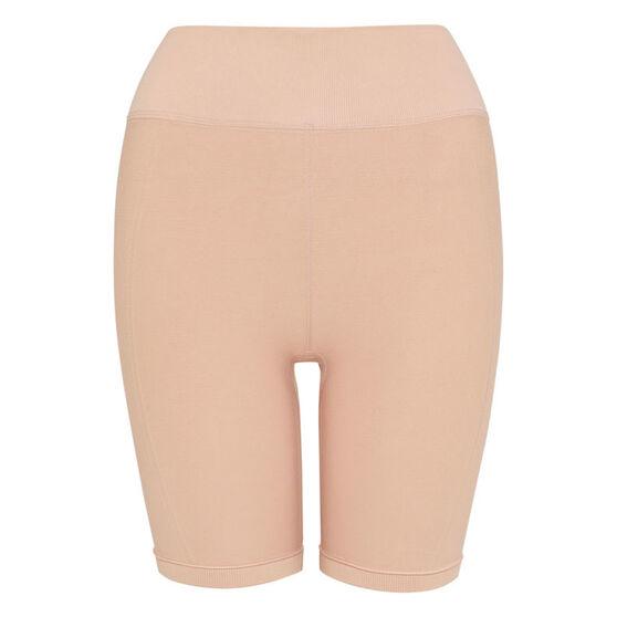 L'urv Womens Euphoria Seamless Shorts, Beige, rebel_hi-res